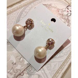 ♠️ Kate Spade Drop Pearl Earring NWT AUTHE…